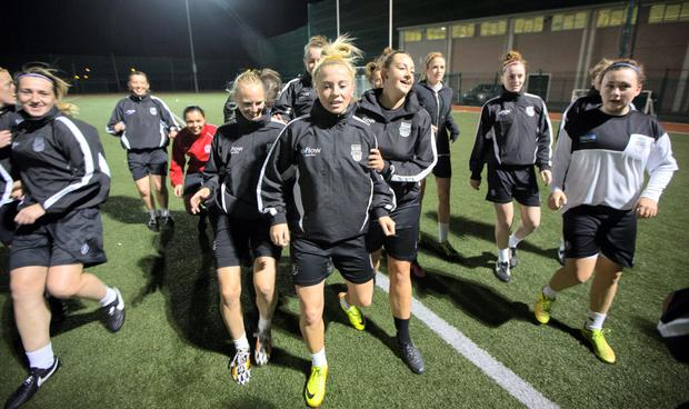 Raheny Utd Ladies training.2/10/2014