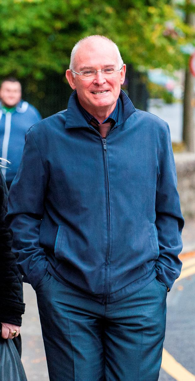 Hugh Crawford at Donegal Town Court where Fr Gabriel Rosbotham is suing Crawford over the ownership of a house. Both former members of the Franciscan brothers in Dublin. PHOTO: Jason McGarrigle