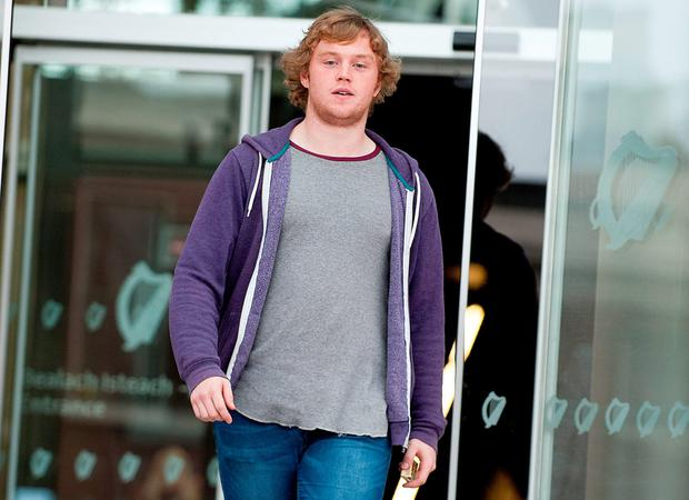 Pic Shows: Jordan Buckley leaving Dublin District Court yesterday (Wednesday) 21-10-2014.