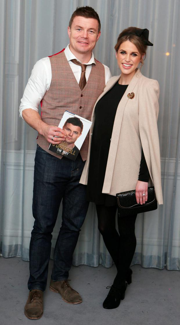 Brian O Driscoll and Amy Huberman pictured at the launch ofThe Test - My Autobiography by Brian O' Driscollwith Alan Englishin 25 Fitzwilliam Place