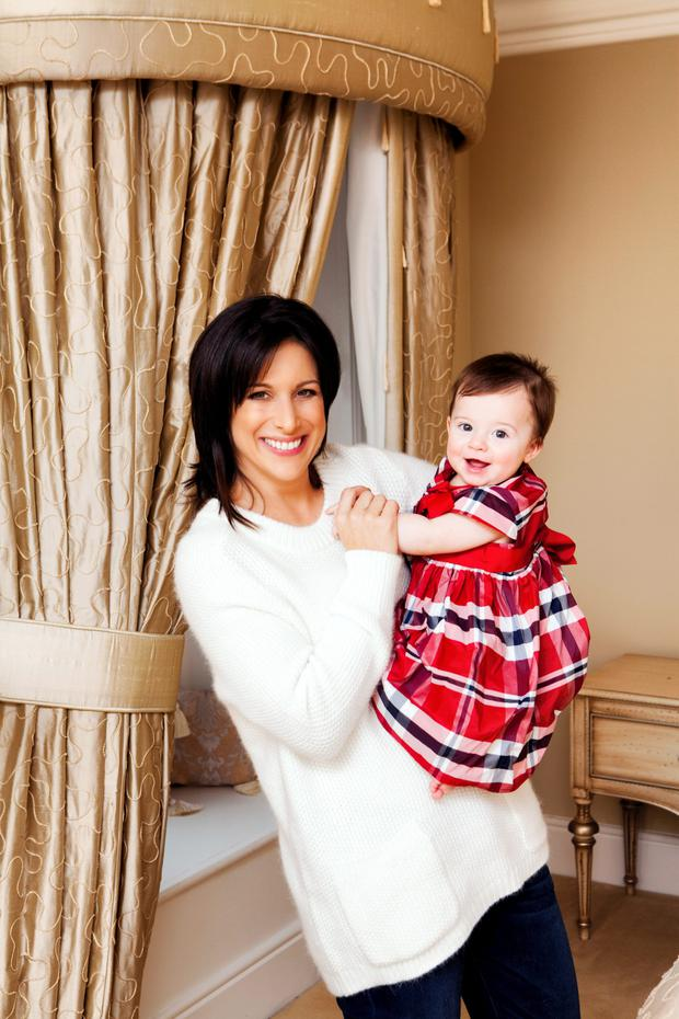 Lucy Kennedy and daughter. Picture: Jenny McCarthy/VIP Magazine