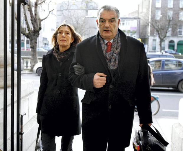 Jules Thomas and Ian Bailey arrive at the High Court