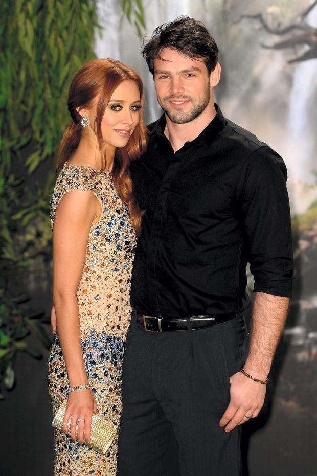 Singer Una Healy of The Saturdays and her husband rugby player Ben Foden