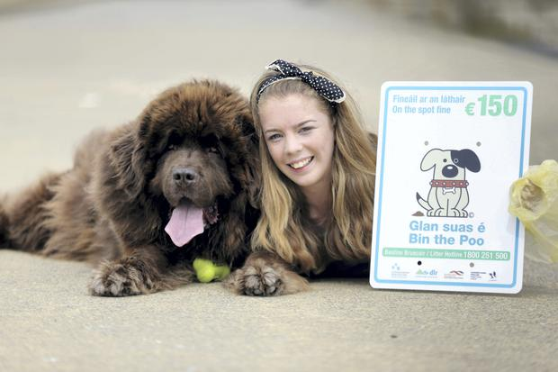 Dublin's local authorities join forces to combat dog fouling on the beaches, parks and streets. Pictured were Rua and Joanna O'Driscoll, Knocklyon.