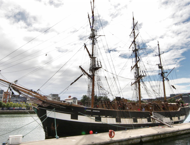 The Jeanie Johnston moored at North Wall Quay in Dublin