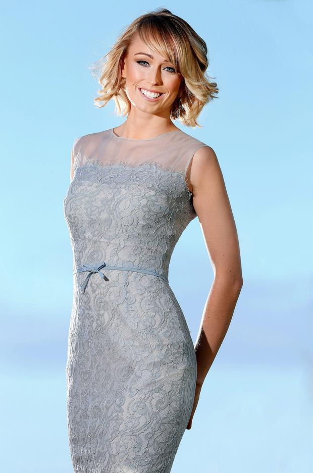 Stephanie Roche pictured wearing a Helen Cody design