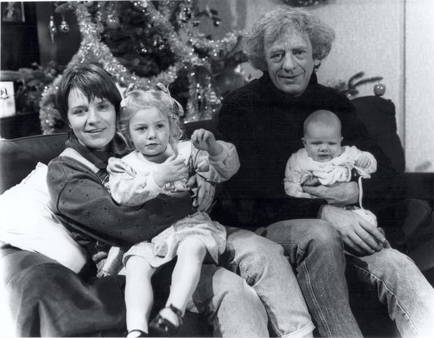 Mary McEvoy, Blathnaid Treacy, Mick Lally and Grace Barry and family shot from Glenroe