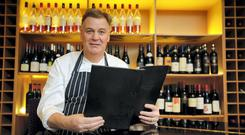 Chef Derry Clarke pictured in his restaurant L'ecrivan