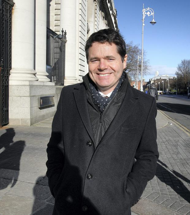 Transport Minister Paschal Donohoe,TD leaving Government Buildings at lunchtime yesterday.Pic Tom Burke 4/2/2015