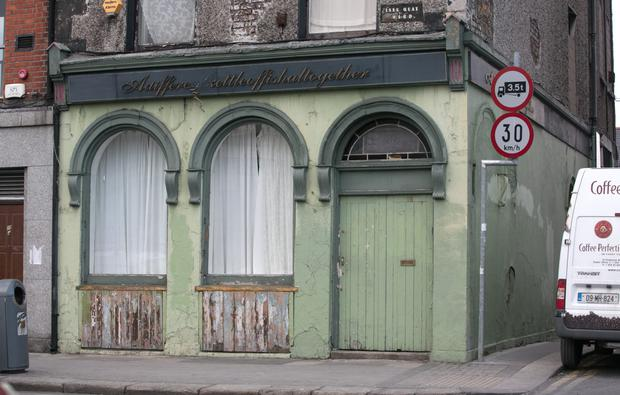 Mannix Flynn's offices which was attacked by vandals costing an estimated that €1,000 worth of damage on Ormond Quay, Dublin