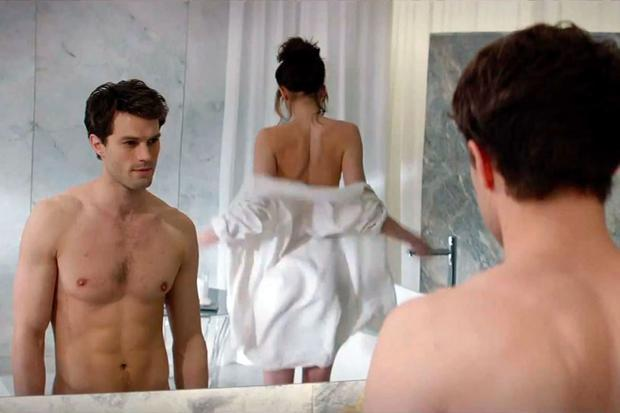 Jamie Dornan and Dakota Johnson in 50 Shades of Grey