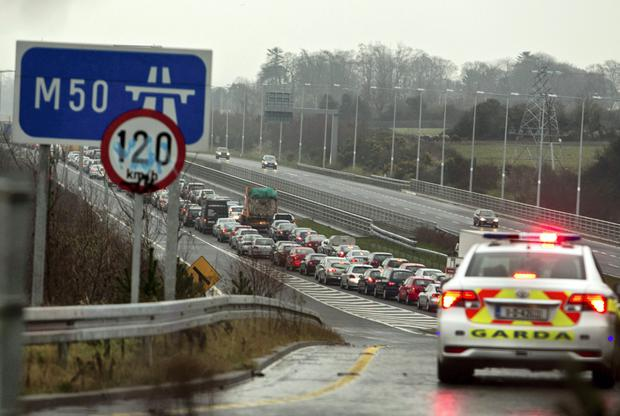 M50 congestion. File picture