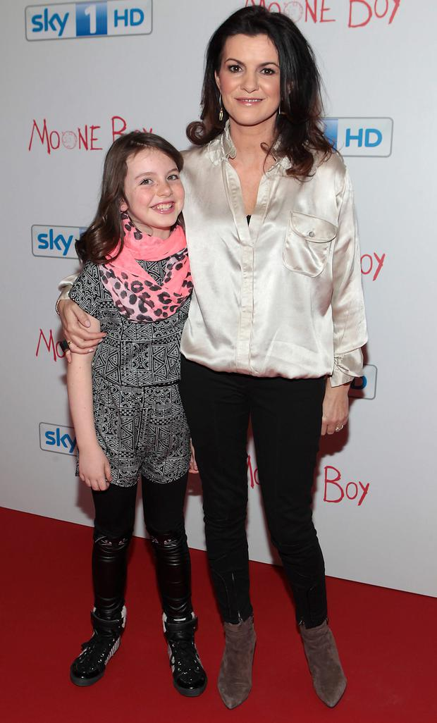 Actress Deirdre O Kane and her daughter Holly at the World Premiere of Moone Boy series 3 at the Royal Hospital Kilmainham in Dublin.