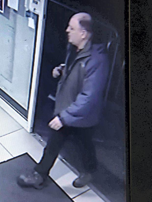 CCTV Footage of Derek Brockwell , aged 53 from Glasgow who carried out an armed robbery at Urban Pharmacy on the Donegal Road, Mr Brockwell who escaped from police custody at Tallaght Hospital in Dublin on Tuesday, got away on a motorbike driven by an accomplice. He was arrested at the Bridge House bar on Bedford Street in Belfast city centre on Wednesday evening