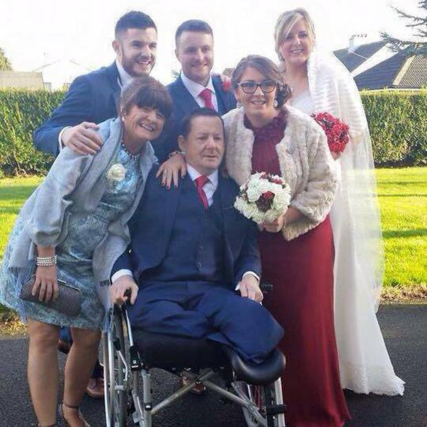 Jack Lynam with his wife Frances, sons Barry and Jonathan and daughters Hazel and Shauna