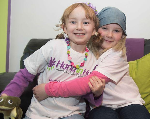 Lily Mae Morrison(6) and Aideen Conneely (8)at the launch of Hand in Hand, Ireland's first dedicated Children's Cancer support centre providing families through childhood cancer