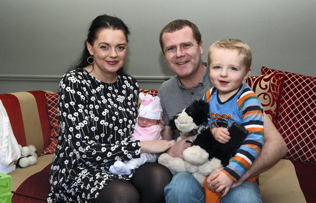 Baby Orlagh McCann made a dramatic and miraculous arrival into the world - safely delivered by her mom in the front seat of her dad's car, two minutes away from Kerry General Hospital