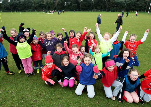 Some of the recruits training for Clontarf GAA club