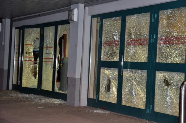 The damage after the gang of youths went on the rampage in Bayside in March