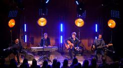 Kodaline performing for RTÉ 2fm's The Rick O'Shea Show