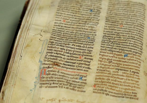 St Mary's Abbey Medieval Manuscript Comes Home to Dublin to Trinity College Library