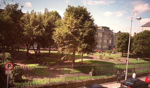 Wolfe Tone Park before it was converted into a plaza