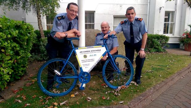 Deterrent: Sgt Seamus Ryan, Inspector Tom Condon and Spt Martin Fitzgerald in Dun Laoghaire