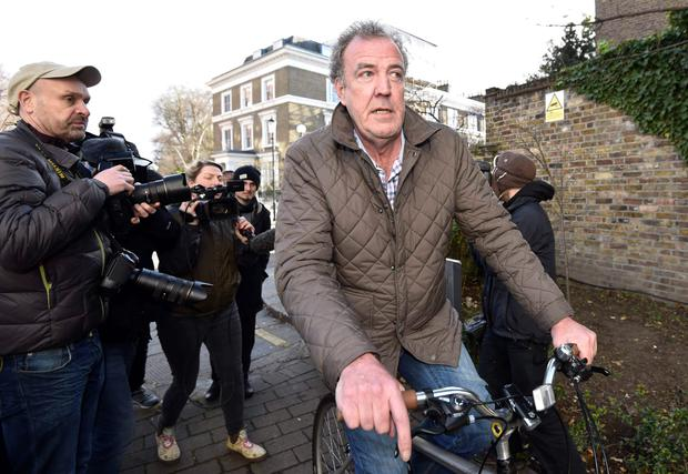 Jeremy Clarkson returns to his home in west London