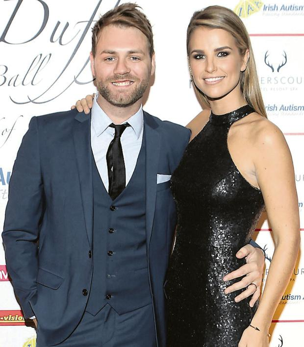 Brian McFadden with wife Vogue Williams