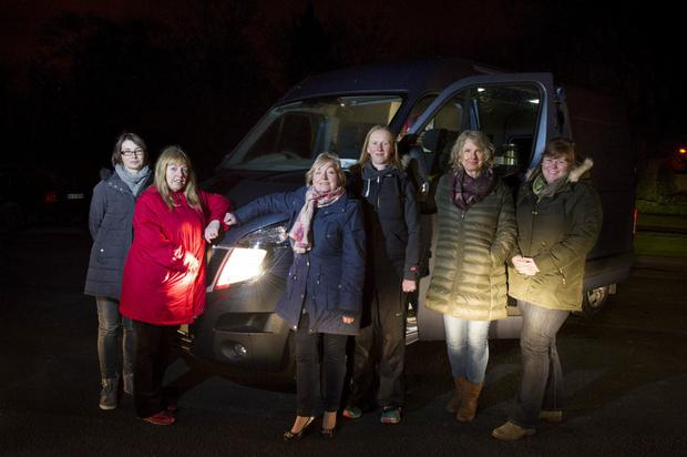 Ruhama outreach workers with new van