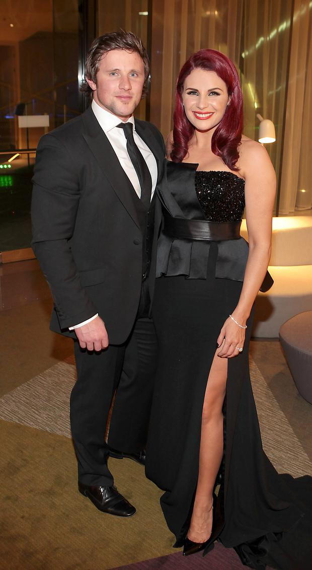 Richard Keatley and Lisa Cannon at The Peter Mark Vip Style Awards 2014 .