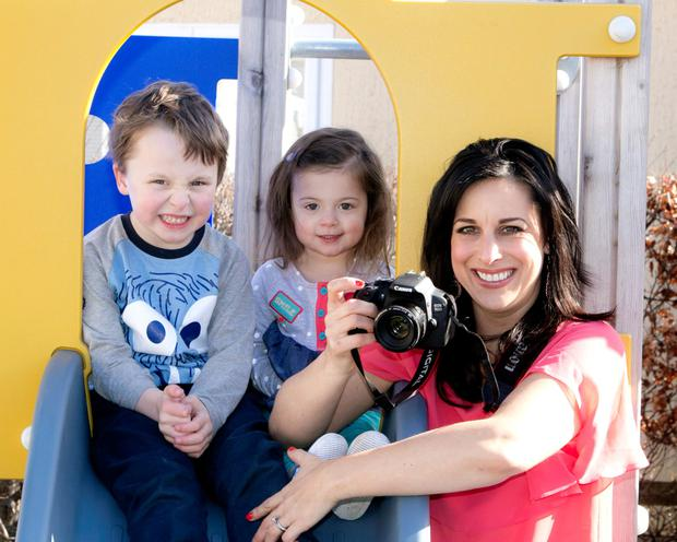 Lucy Kennedy and her children Holly (3) and Jack (5)