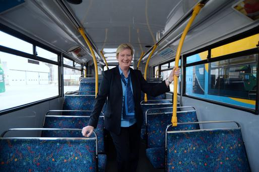 Dublin Bus Driver and Schools & Community Co-ordinator Joanne Courtney. Broadstone Bus Depot, Broadstone, Dublin