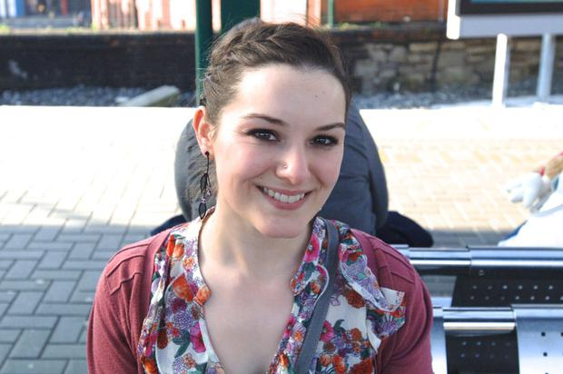 Lolanda Pearse (24) from Naas pictured at busy platform at Connolly Station Dublin.