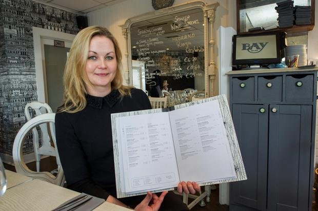 The Bay Restaurant; calorie specific menu introduction. Louise Eglington, manager of restaurant.