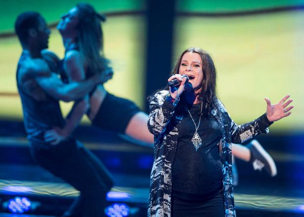 Helen Bradley Bates from Team Kian during the Quarter Final live show of The Voice of Ireland in The Helix.