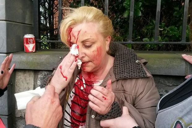 Gina Ward from Balbriggan at a water protest in Swords on 13/4/2015
