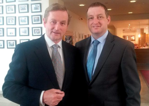 Enda Kenny with John McNulty