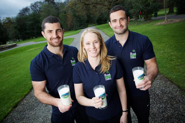 The National Dairy Council was joined by its sports ambassadors Derval O'Rourke, Rob Kearney and Dave Kearney to announce details of its 2015 campaign for National Dairy Week.