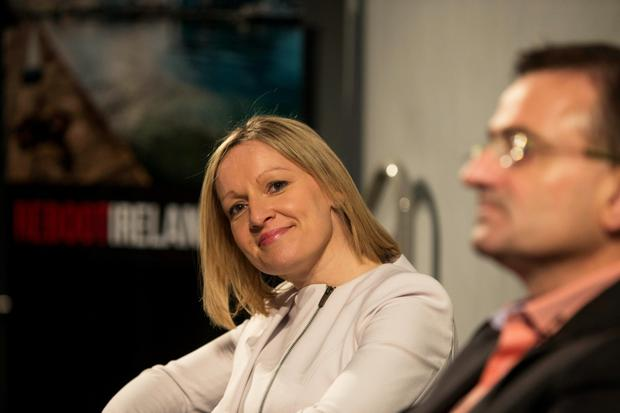 Lucinda Creighton who unveiled the name of her new political party Renua Ireland
