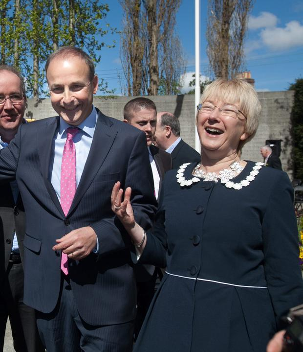 Micheal Martin and Mary Hanafin