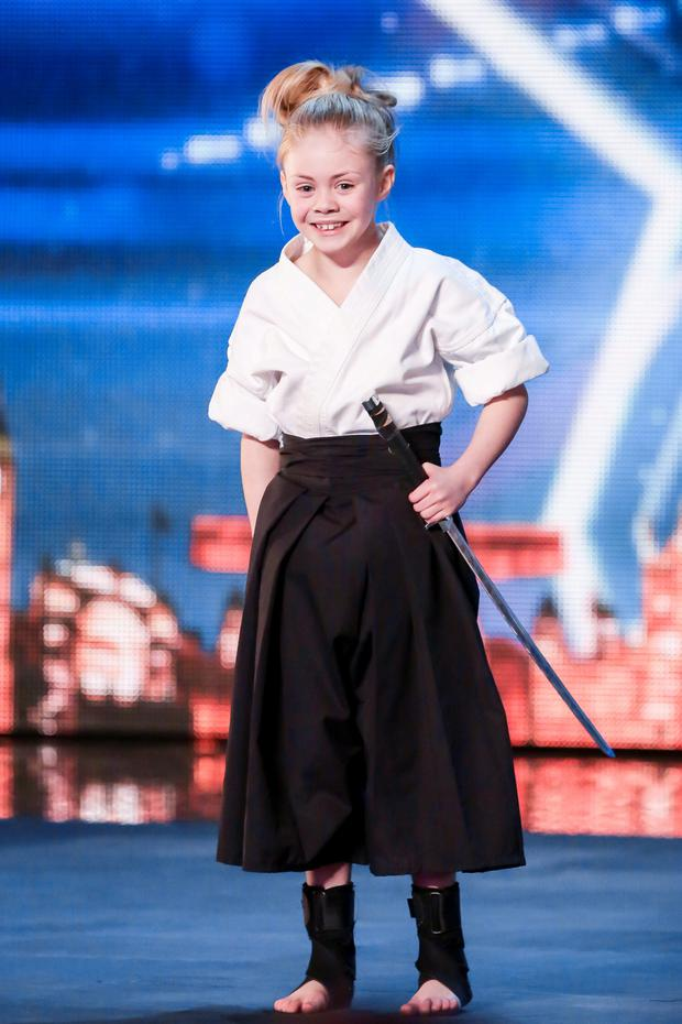 Jesse Jane McParland, during the audition stage of ITV1 talent show, Britain's Got Talent