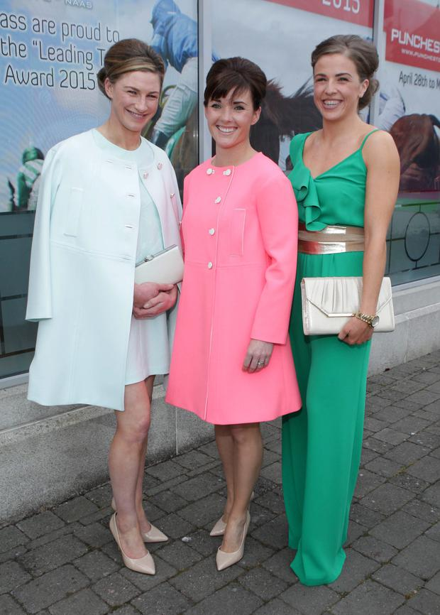 Pictured at the launch of the Lemongrass Citywest & Naas Leading Trainer and Jockey award for the Punchestown Festival in the Lemongrass restaurant in Naas were from left to right Nina Carberry, Katie Walsh and Katie Harrington