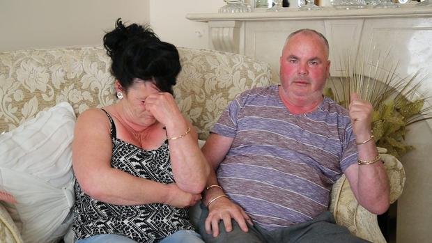 The parents of missing man William Maughan - Helen and Joseph