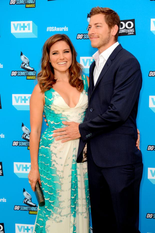 Sophia Bush, left, and Dan Fredinburg