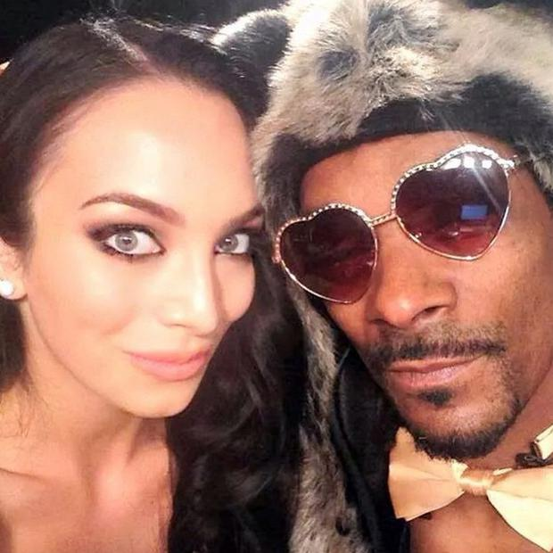 Model Shahira with Snoop Dogg