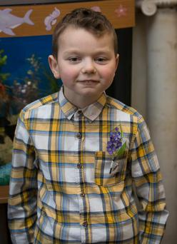 Luke Concannon (9) from Lucan who recieved a kidney transplant within the last year during a celebration of Temple St Hospital's 100th Kidney Transplant at Temple Street Children's University Hospital Dublin. Photo: Gareth Chaney Collins