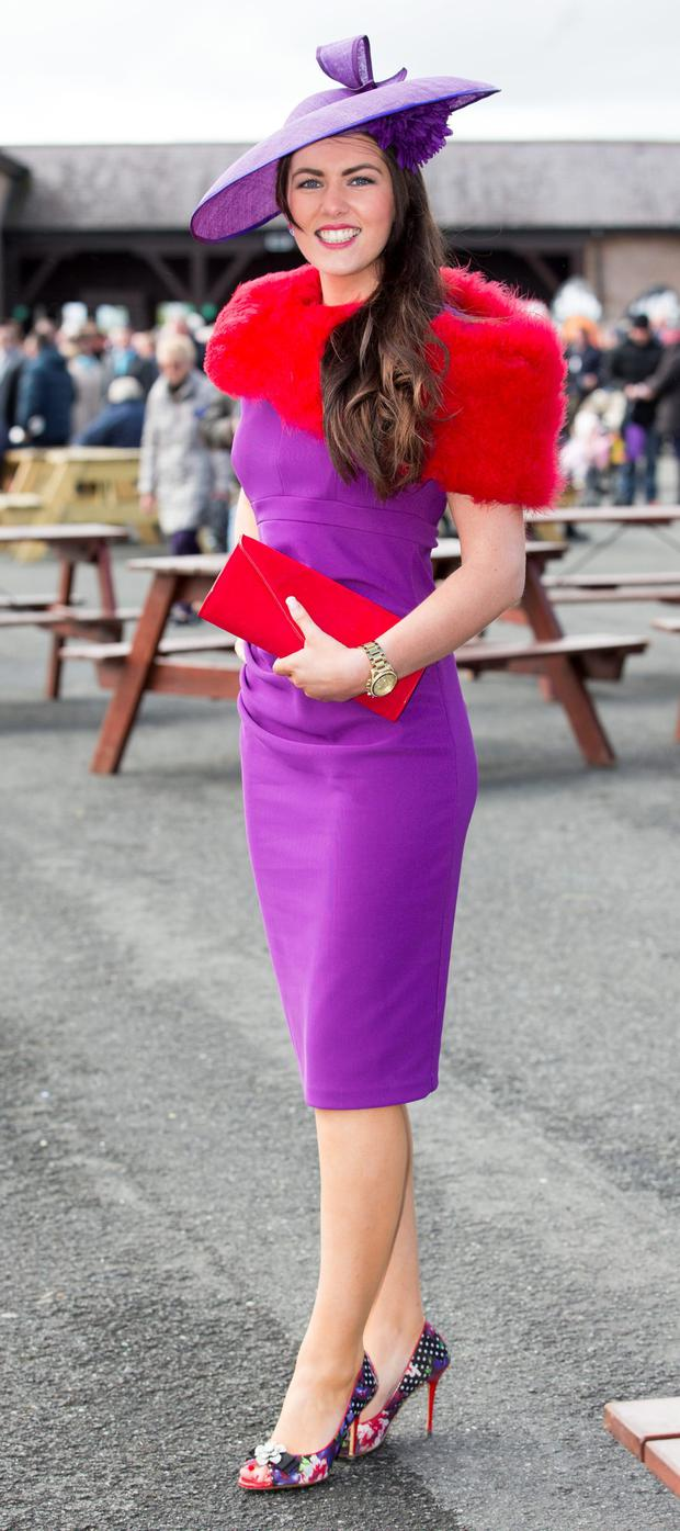 Pictured at The Punchestown Irish National Hunt Festival yesterday was Ann Marie Blake, Wexford.