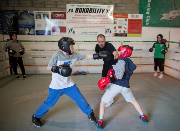 Boxing Coache Mick Kelly from the Esker Boxing club in Lucan