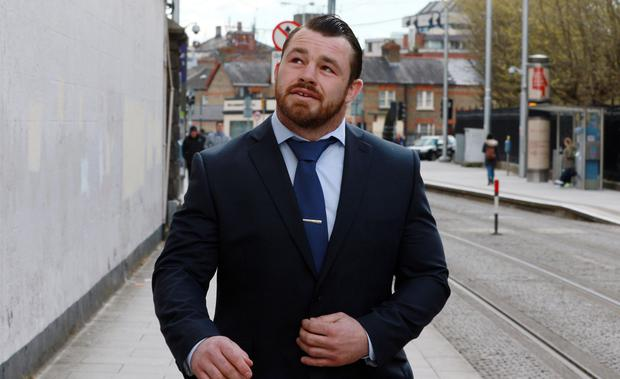 Ireland and Leinster Rugby Star, Cian Healy pictured leaving the Bridewell District Court in Dublin